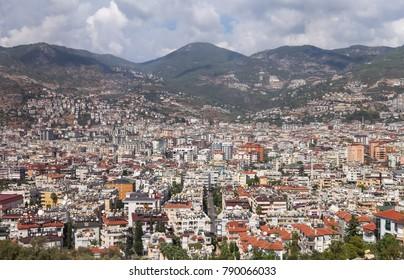 Alanya Town in Antalya City, Mediterranean Coast of Turkey