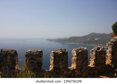 Alanya Town of Antalya Province in Turkey. Castle. Alanya cityscape. Cleopatra's beach.