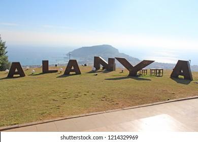 Alanya/Antalya/ Turkey - September 08 2018 : Alanya Peninsula from Alanya View Terrace