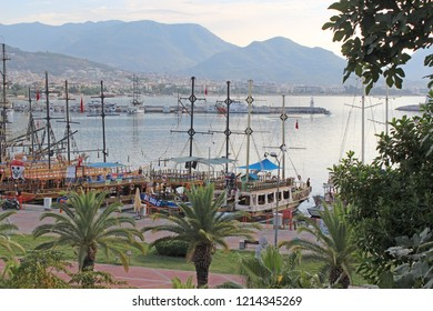 Alanya/Antalya/ Turkey - September 08 2018 : Alanya Harbour