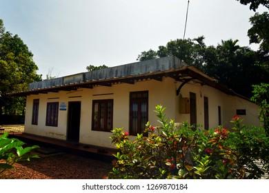 ALAPPUZHA, KERALA, INDIA, DECEMBER 09, 2018: The great Malayalam novelist Thakazhi Sivasankara Pillai's ancestral home is converted into a smrithimandapam (memorial) and Museum at Ambalappuzha.
