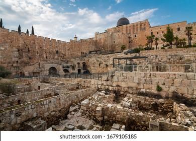 Al-Aqsa / el-marwani / solomon's stables mosque in Old City of Jerusalem