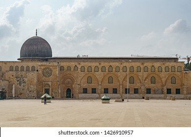 Al-Aqsa Mosque near the dome of the rock  in Jerusalem on the top of the Temple Mount israel palestine 22 october 2018