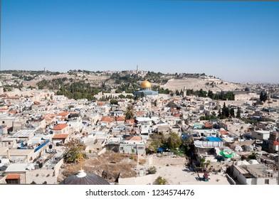 Al-Aqsa mosque, the old city of Jerusalem