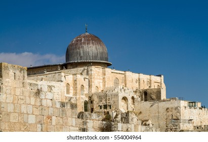 Al-Aqsa Mosque, Temple Mount in Old City of Jerusalem, Israel