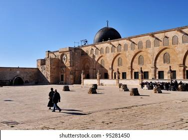 Al-Aqsa Mosque and Worshipers, East Jerusalem