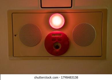 Alarm bells and warning lights for avoiding fire.
