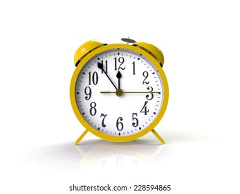 Alarm clock 3d isolated on white background