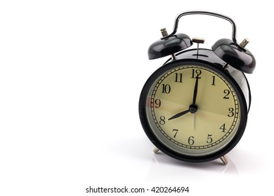 Alarm Clock black and white on white background