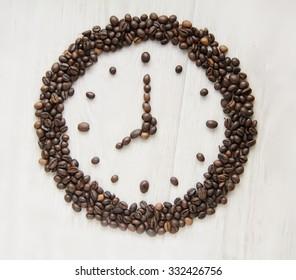 alarm clock of coffee grains