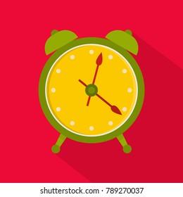 Alarm clock icon. Flat illustration of alarm clock  icon for web