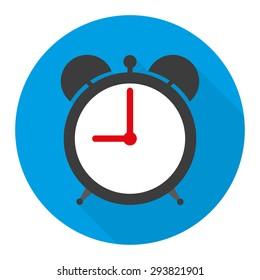 alarm clock icon illustration in flat