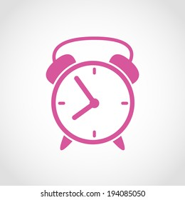 Alarm Clock Icon Isolated on White Background Raster