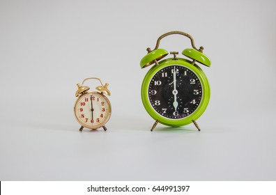 alarm clock with isolate white background