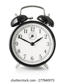 alarm clock isolated with clipping path included