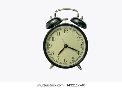alarm clock isolated on white background with clipping path