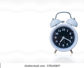 Alarm clock isolated on white background.