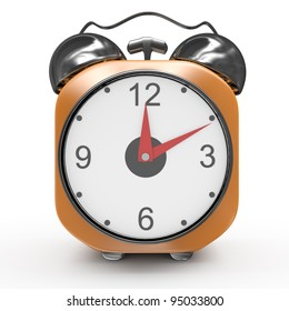 alarm clock isolated on white background. 3d rendered image