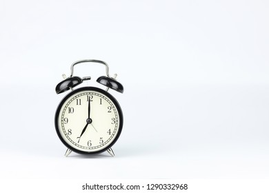 alarm clock isolated and white background