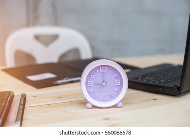 Alarm clock on the desk