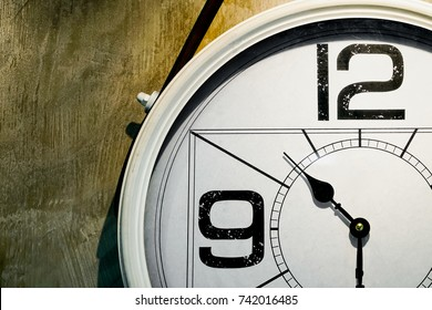 Alarm Clock on the wall.