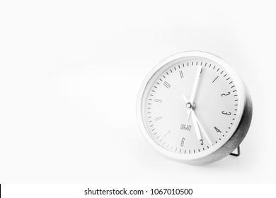 Alarm clock on white background.