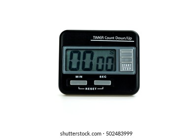 Alarm clock on white background