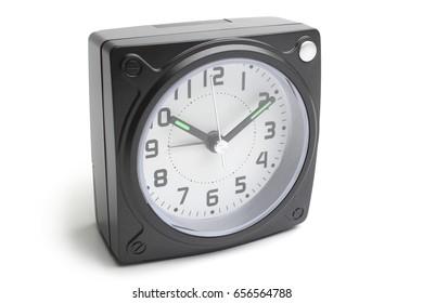 Alarm clock on white background