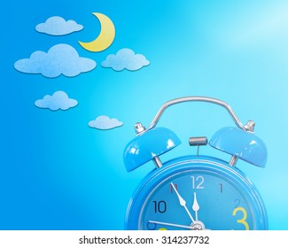 Alarm clock and paper craft, Night Sky