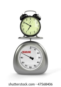 Alarm clock and scales