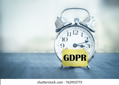 alarm clock with text GDPR General Data Protection Regulation