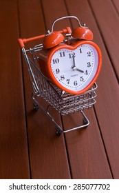 alarm clock and trolley