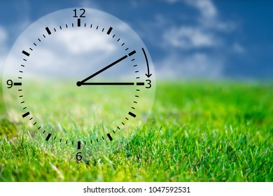 alarm clock - turn time forward or backward for sommer or winter time