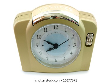 Alarm clock (with gold plastic body).