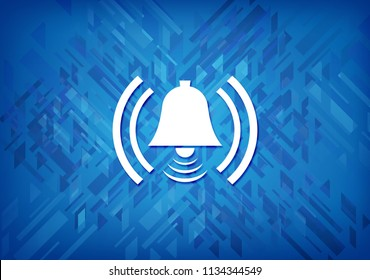 Alarm icon isolated on blue background abstract illustration
