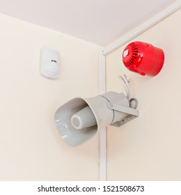 alarm sensors and acoustic system indoors