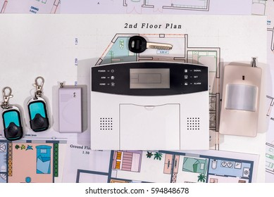 Alarm system, cctv on house plan