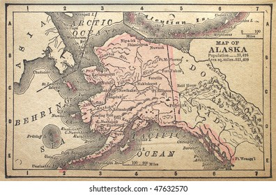 Alaska, circa 1880. See the entire map collection: http://www.shutterstock.com/sets/22217-maps.html?rid=70583