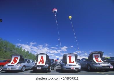 ALASKA - CIRCA 2000's: Cars for sale in Alaska, USA