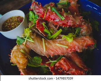 Alaska Crabs Baked Vermicelli, Famous Thai food menu,