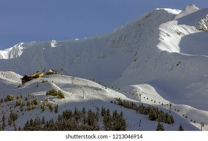 Alaska downhill skiing near Anchorage