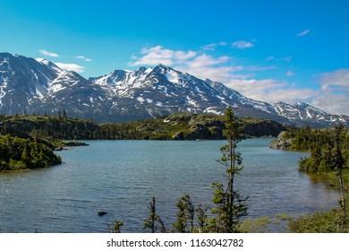 Alaska Lake and Mountains