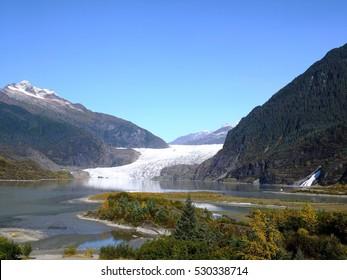 Alaska, Mendenhall Glacier and Nugget Falls