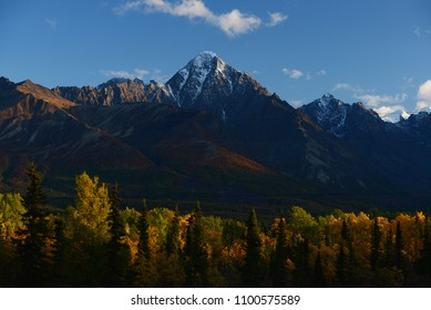 alaska mountain at chugach forest