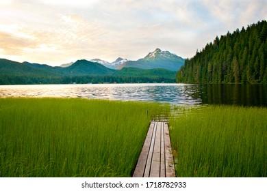 Alaskan beautiful Auke lake, Juneau, AK, USA