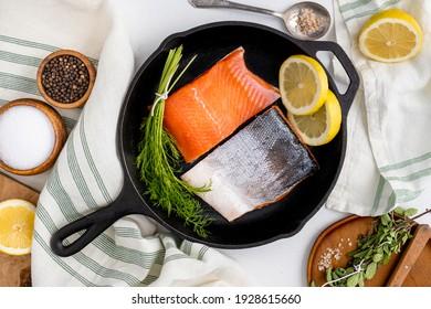 Alaskan coho salmon for dinner. Sustainably caught Alaskan salmon.