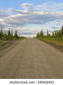 Alaskan dirt road