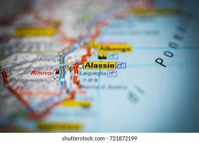 Alassio on map.