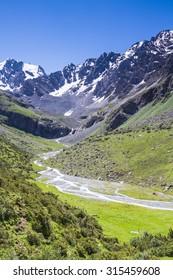 Alatau Plateau in Tian Shan mountains, Karakol, Kyrgyzstan, Central Asia