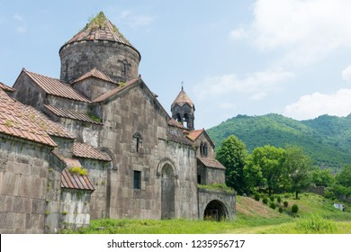 Alaverdi, Armenia - Jun 11 2018: Haghpat Monastery in Haghpat village, Alaverdi, Lori, Armenia. It is part of the World Heritage Site - Monasteries of Haghpat and Sanahin.